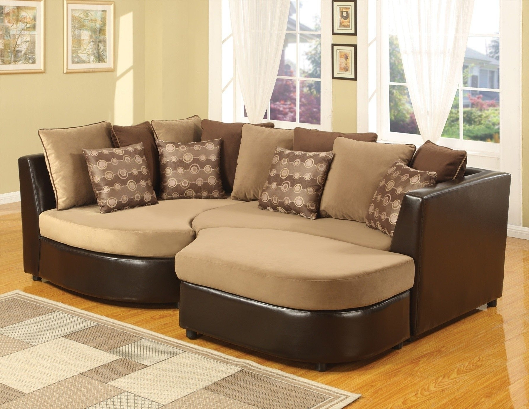 Well Liked Microfiber Sectional Sofas With Chaise Intended For Sofa ~ Wonderful Oversized Sectionals Sofa (View 13 of 15)