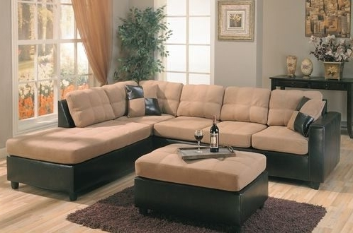 Well Liked Microsuede Sectional Sofas – Home And Textiles Pertaining To Leather And Suede Sectional Sofas (View 9 of 10)