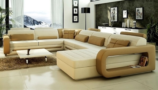 Well Liked Sectional Sofa Design: Modern U Shaped Sectional Sofa Small U For Modern U Shaped Sectional Sofas (View 7 of 10)