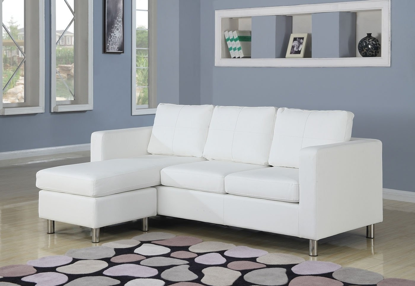 Well Liked Small Chaises For L White Leather Sectional Sofa With Chaise And Back Also Arms On (View 9 of 15)