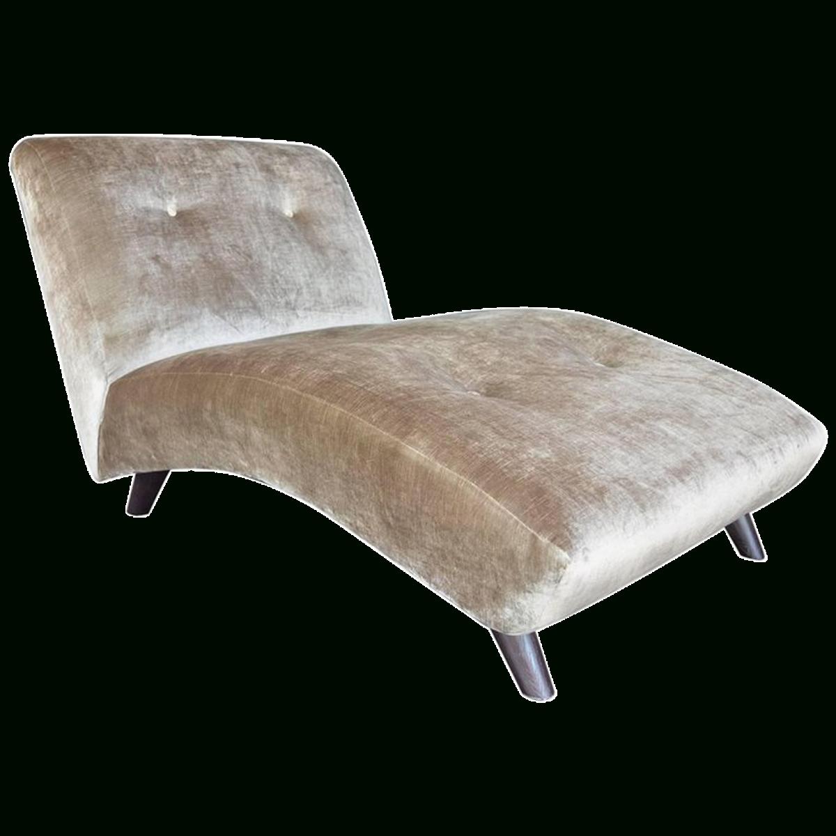 Well Liked Velvet Chaises Inside Viyet – Designer Furniture – Seating – Vintage Velvet Chaise Lounge (View 15 of 15)