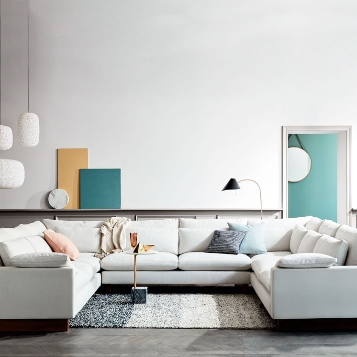 Well Liked West Elm Sectional Sofas Throughout Harmony Down Filled U Shaped Sectional (View 6 of 10)