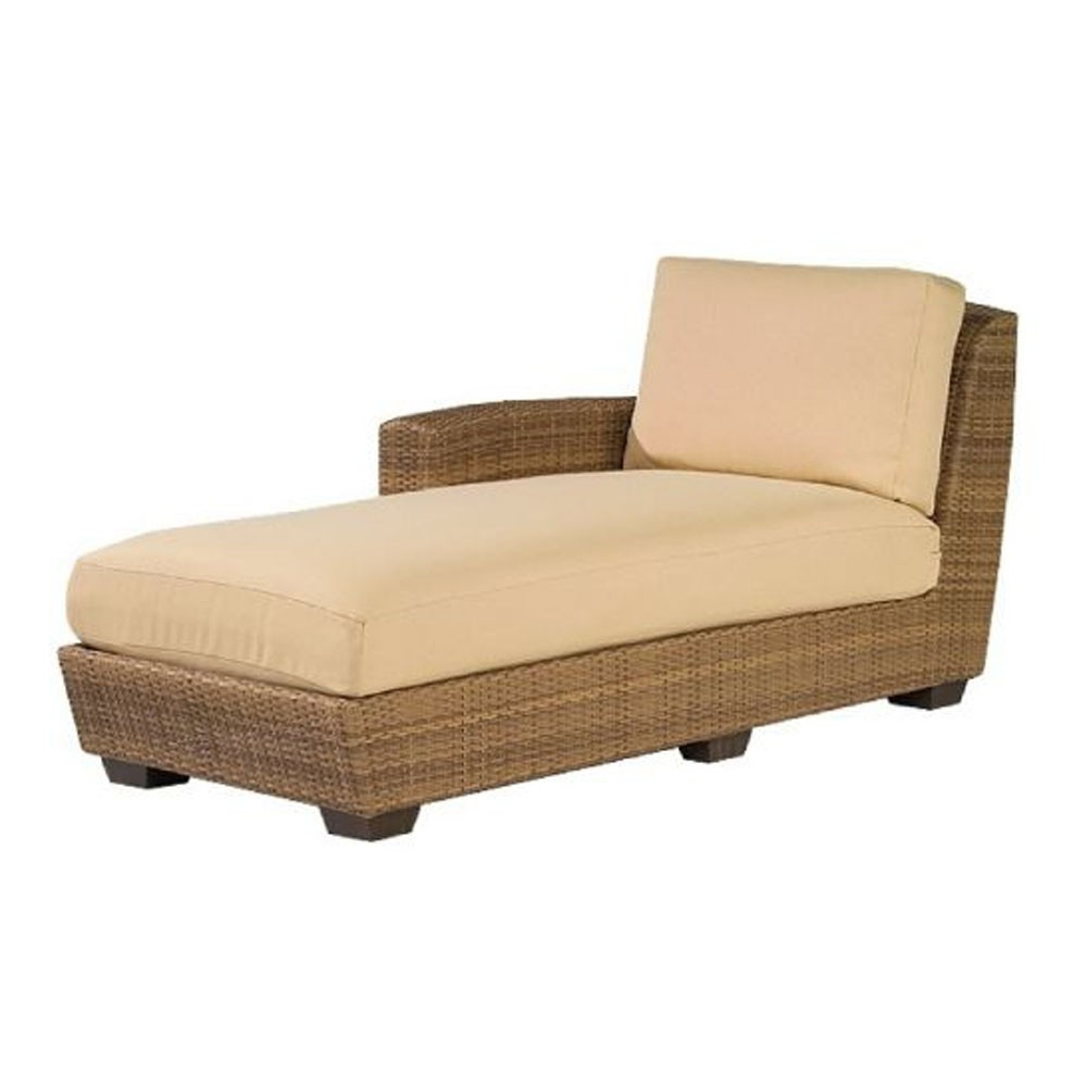 Well Liked Wicker Chaises Intended For Replacement Cushion – Whitecraftwoodard Saddleback Wicker (View 9 of 15)