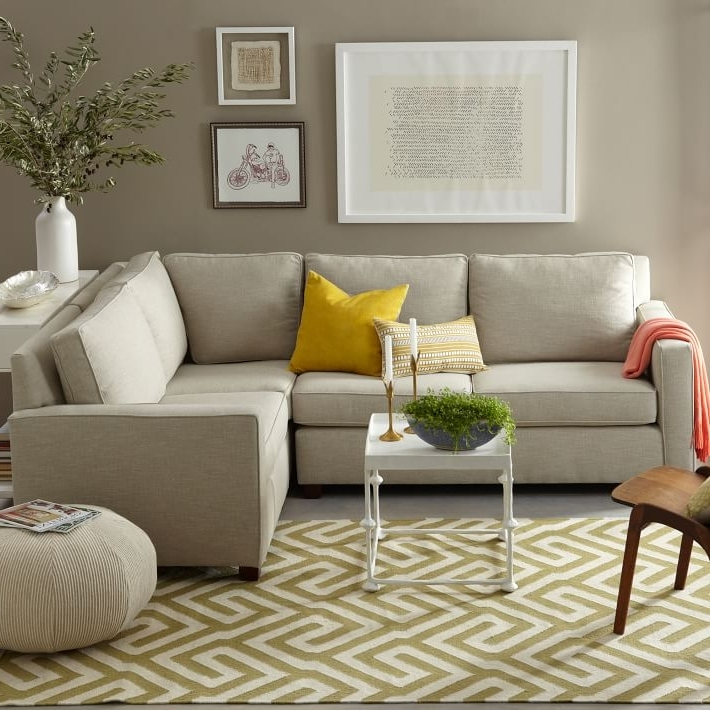 West Elm Sectional Sofas Pertaining To Current Henry® 3 Piece Sectional (View 9 of 10)
