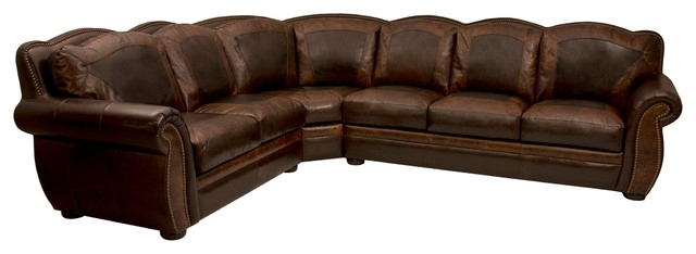 Western Themed Leather Sectional – Rustic – Living Room – Houston With Latest Western Style Sectional Sofas (View 3 of 10)