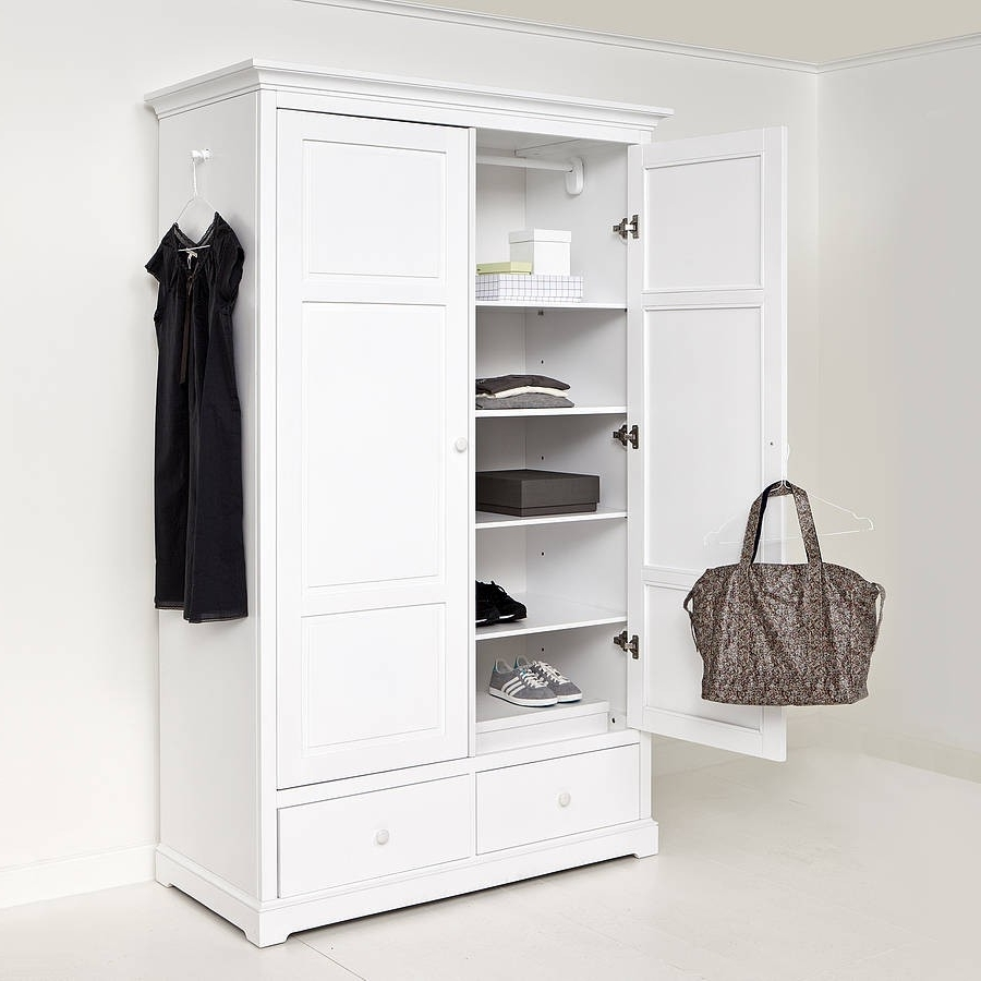 White 2 Door Wardrobes With Drawers In Most Up To Date Elegant White Two Door Wardrobe – Badotcom (View 10 of 15)