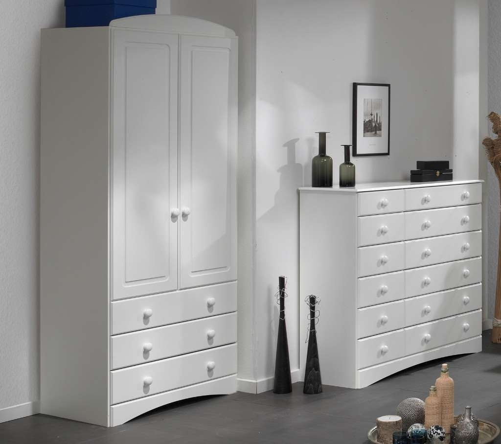 White 2 Door Wardrobes With Drawers Intended For Fashionable White 3 Door Wardrobe With Drawers And Mirror Large Corner Argos  (View 12 of 15)