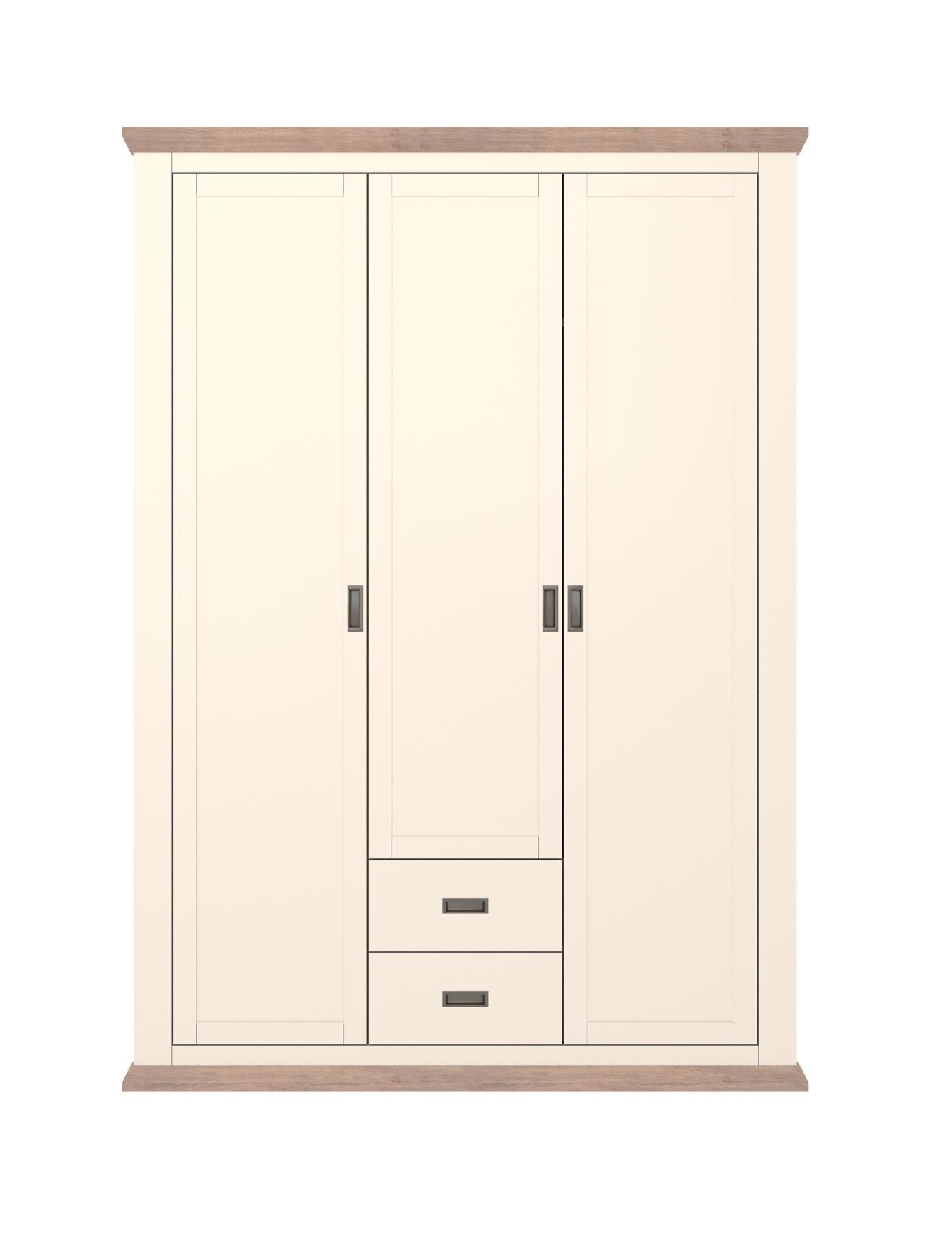 White 2 Door Wardrobes With Drawers Pertaining To 2017 Washington 3 Door, 2 Drawer Wardrobe, White Pine,oak,walnut,cream (View 14 of 15)