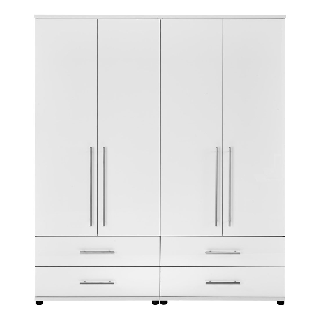 White 4 Door Wardrobe – Gunjan Furnitures Jaipur Pertaining To Fashionable 4 Door White Wardrobes (View 14 of 15)