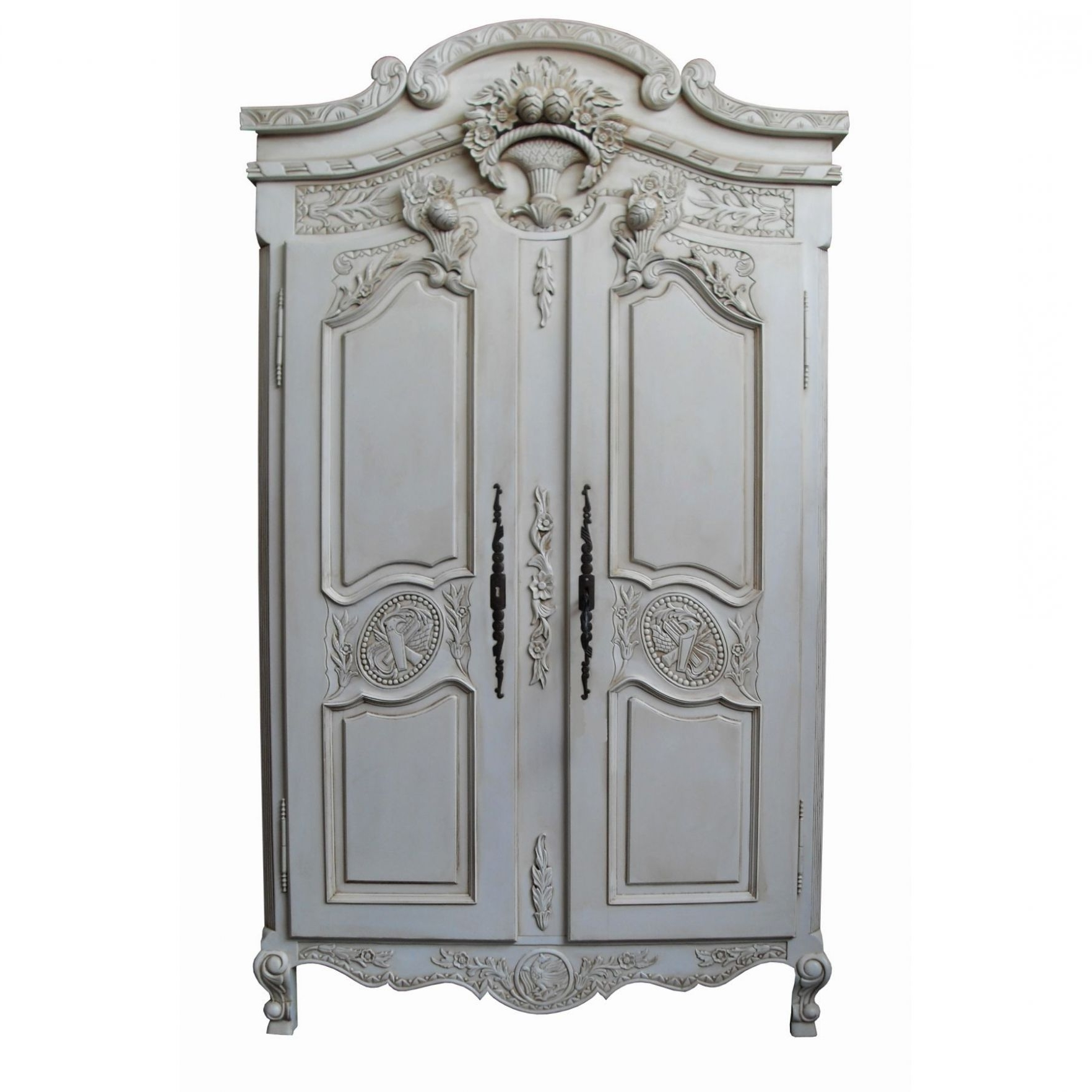 White Antique Wardrobes Intended For Recent Rococo Antique French Wardrobe (ordinary Antique Wardrobes # (View 7 of 15)