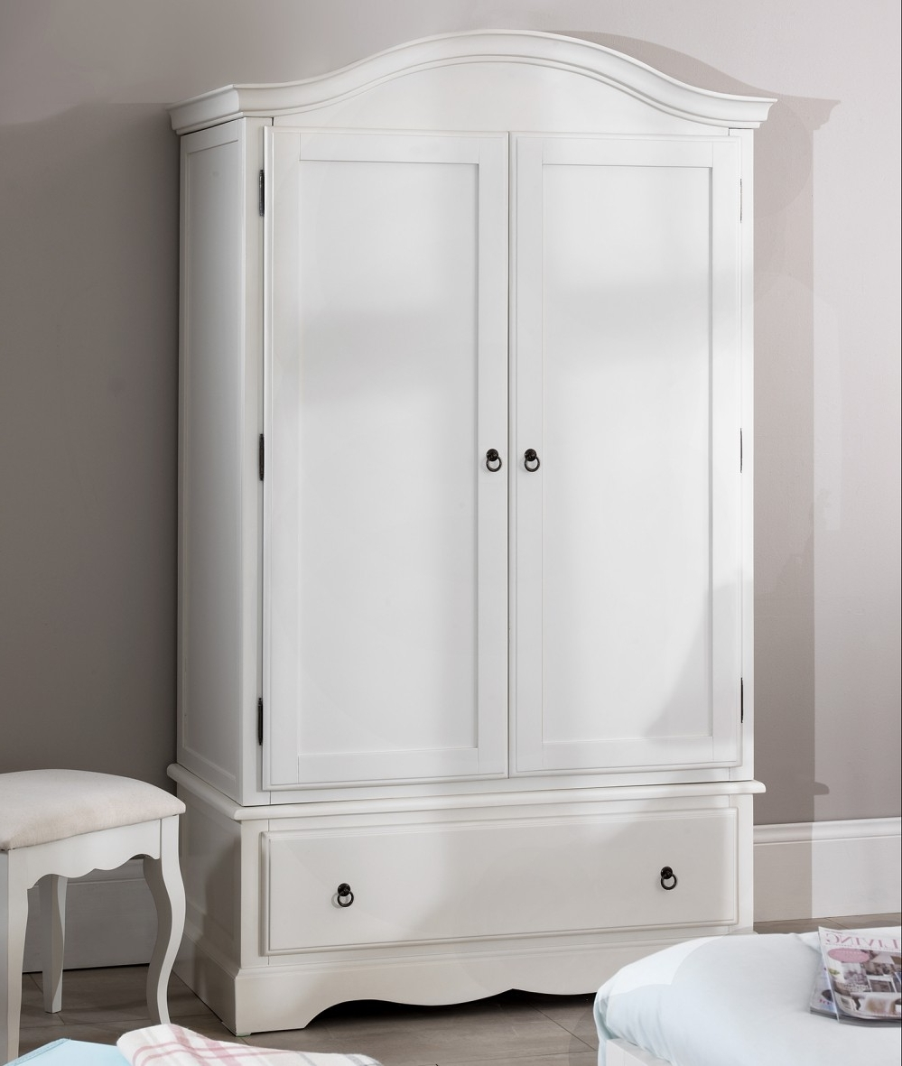 White Antique Wardrobes With Regard To Widely Used Romance White Bedroom Furniture, Bedside Table, Chest Of Drawers (View 15 of 15)