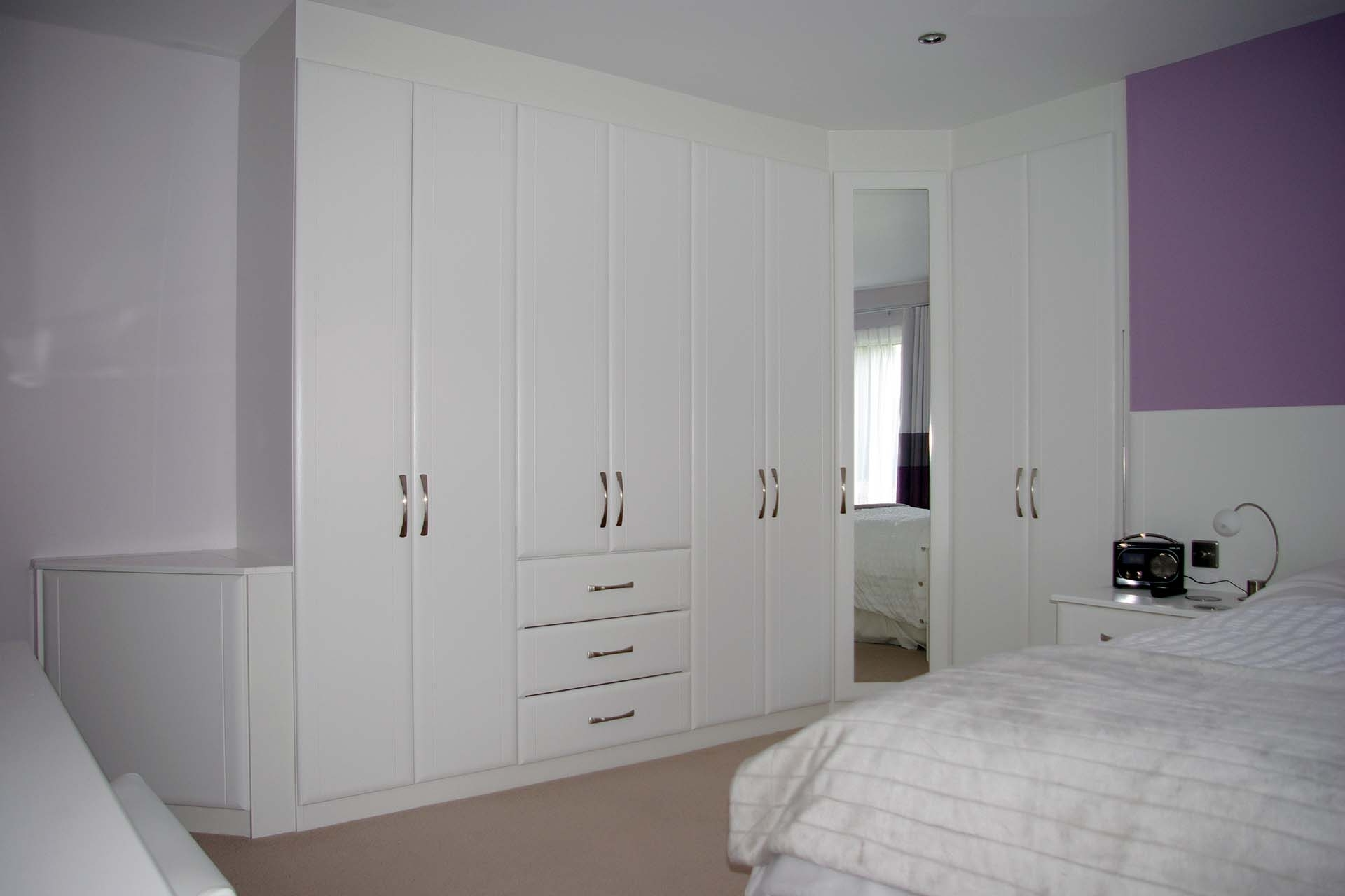 White Bedroom Wardrobes With Recent Bedroom: Fitted Bedrooms Wardrobe White Mirror Carpet Elegant (View 13 of 15)