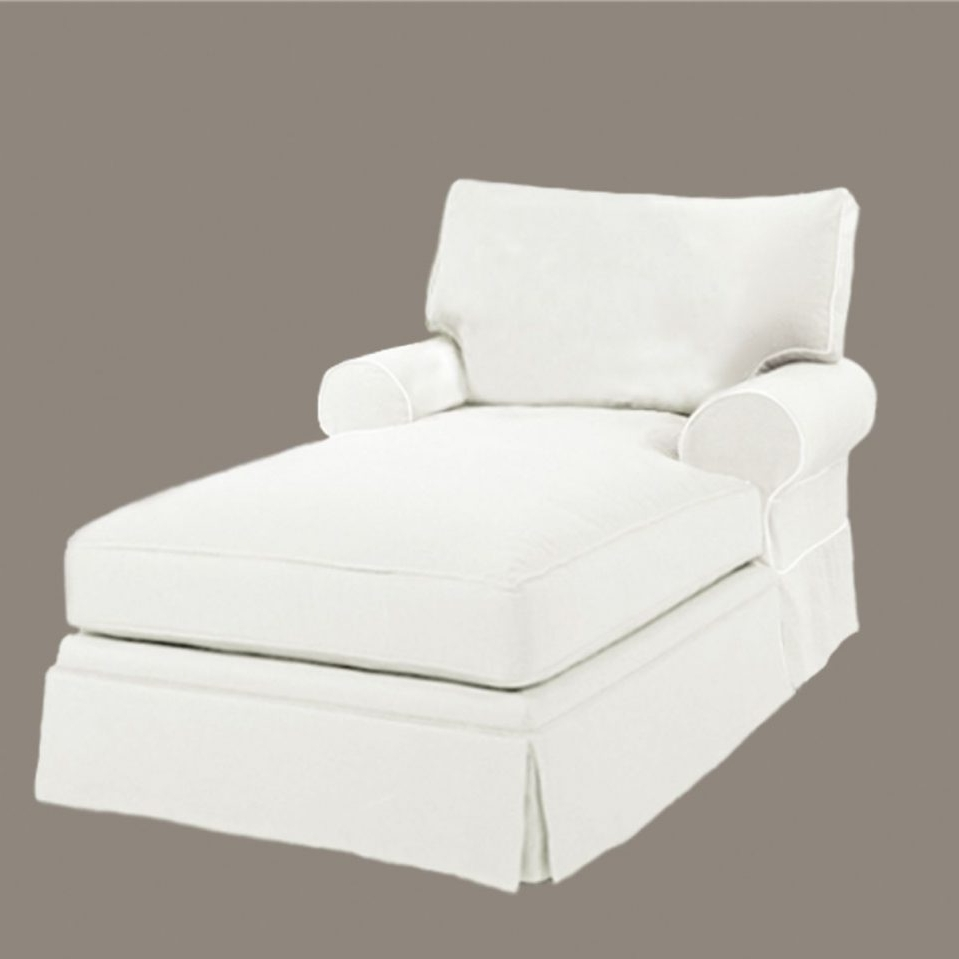 White Chaise Lounges In Well Known Home Designs : Living Room Chaise Lounge Chairs White Fabric (View 10 of 15)