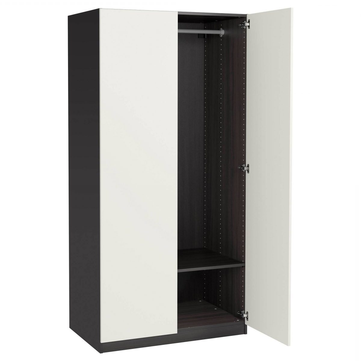 White Cheap Wardrobes In Well Liked 11 Elegant Cheap Black Wardrobes • Tactical Being Minimalist (View 14 of 15)