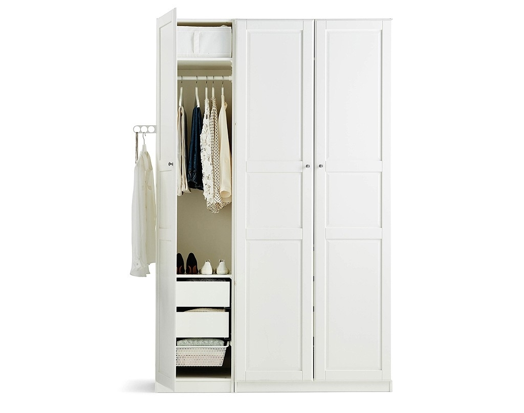 White Cheap Wardrobes Inside Most Up To Date Childrens Wardrobes Nursery Ikea Sundvik White Wardrobe Fresh (View 15 of 15)