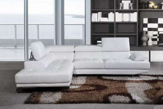 White Corner Sofas – A Sign Of Elegance, Pureness, And Style Pertaining To Popular White Leather Corner Sofas (View 5 of 10)
