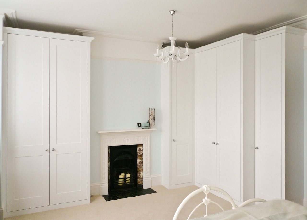White Corner Wardrobes Throughout Current Traditional Style Wardrobe Built To Maximise Alcove Space (View 13 of 15)