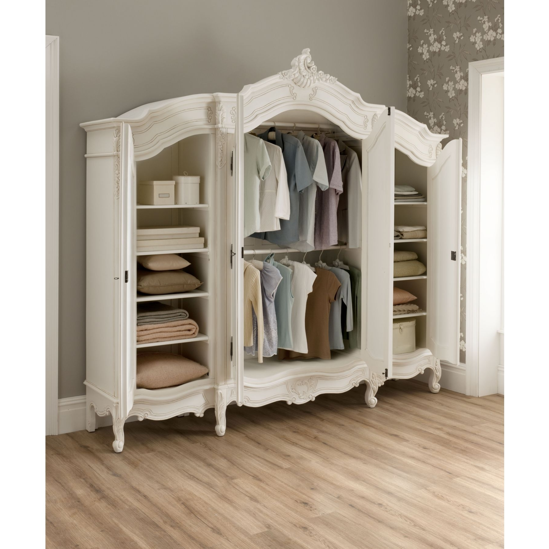White French Armoire Wardrobes For Favorite French Wardrobe For Simple Outfits – Bellissimainteriors (View 12 of 15)