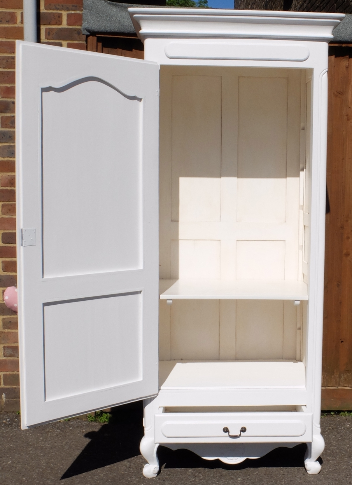 White French Style Single Door Wardrobe – Home Sweet Homehome With Regard To 2017 French Style White Wardrobes (View 14 of 15)