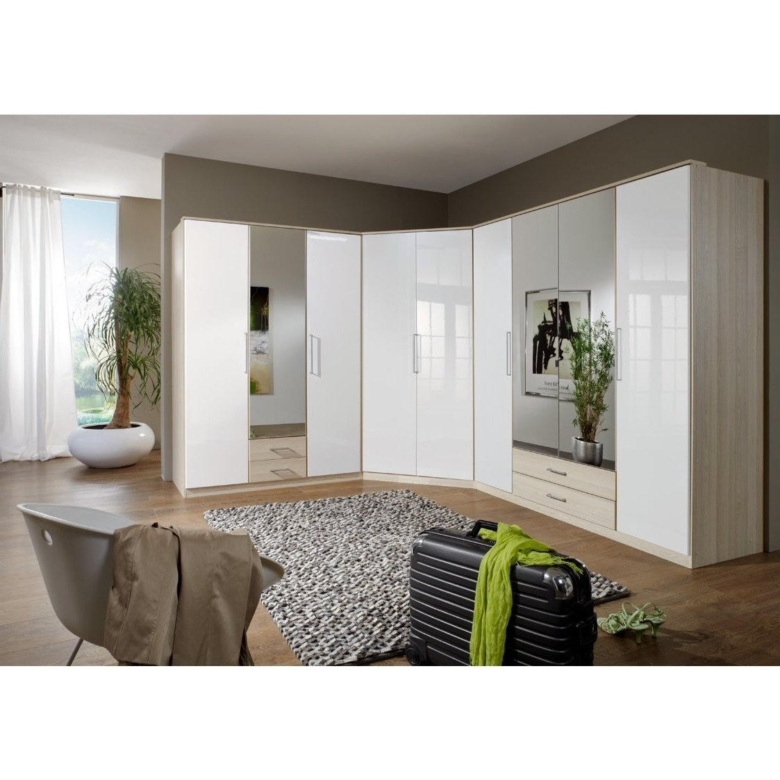 White Gloss Corner Wardrobes With Fashionable Unique White Gloss Corner Wardrobe – Badotcom (View 14 of 15)