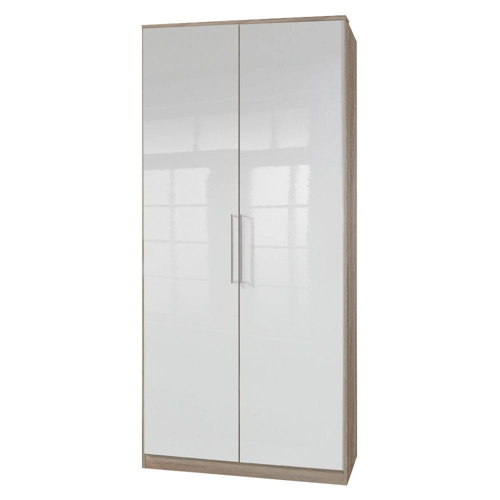 White Gloss Wardrobes Throughout Favorite Gamma Gloss 2 Door Wardrobe – Swagger Inc (View 9 of 15)