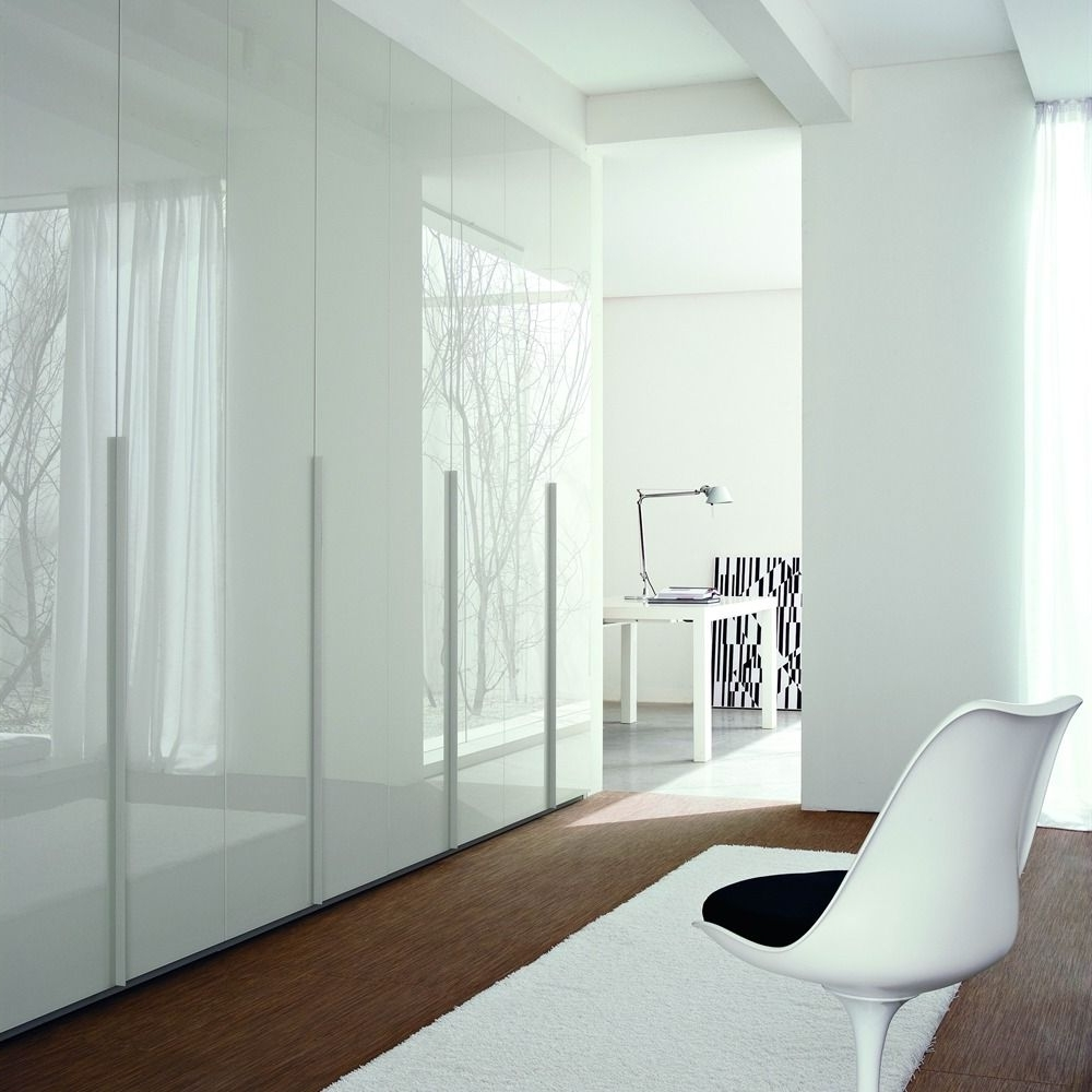 White High Gloss Lacquered Hinged Door Wardrobe (View 12 of 15)