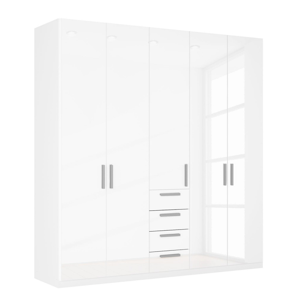 White High Gloss Wardrobes For Famous High Gloss White Wardrobes On Sale With Drawers London (View 9 of 15)