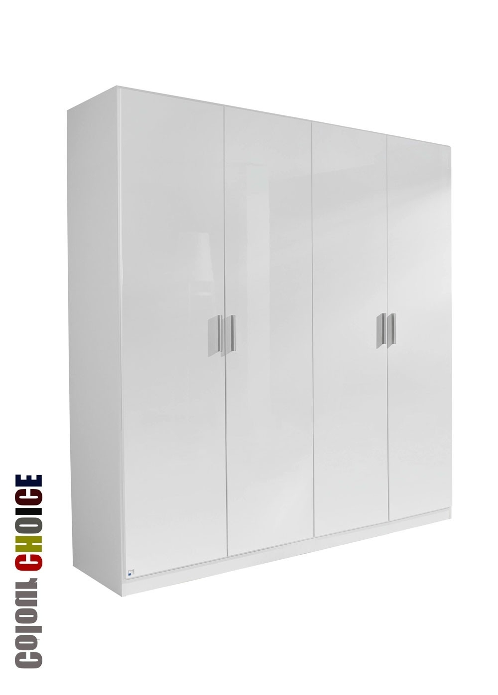 White High Gloss Wardrobes Pertaining To Most Popular Rauch High Gloss Cello 4 Door Wardrobe (View 6 of 15)