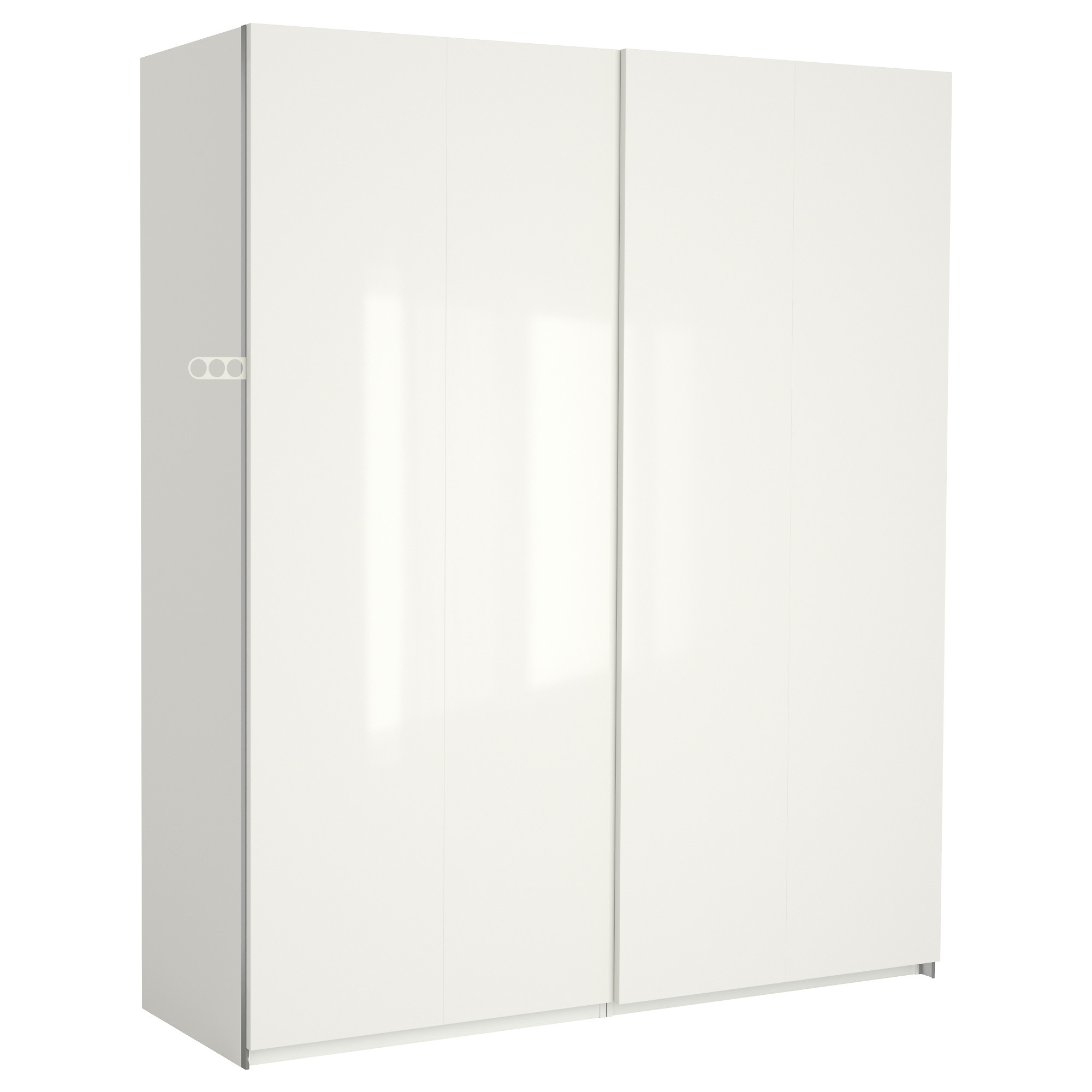 "White High Gloss Wardrobes Regarding Most Up To Date Pax Wardrobe – 78 3/4x26x79 1/4 "" – Ikea (View 5 of 15)"