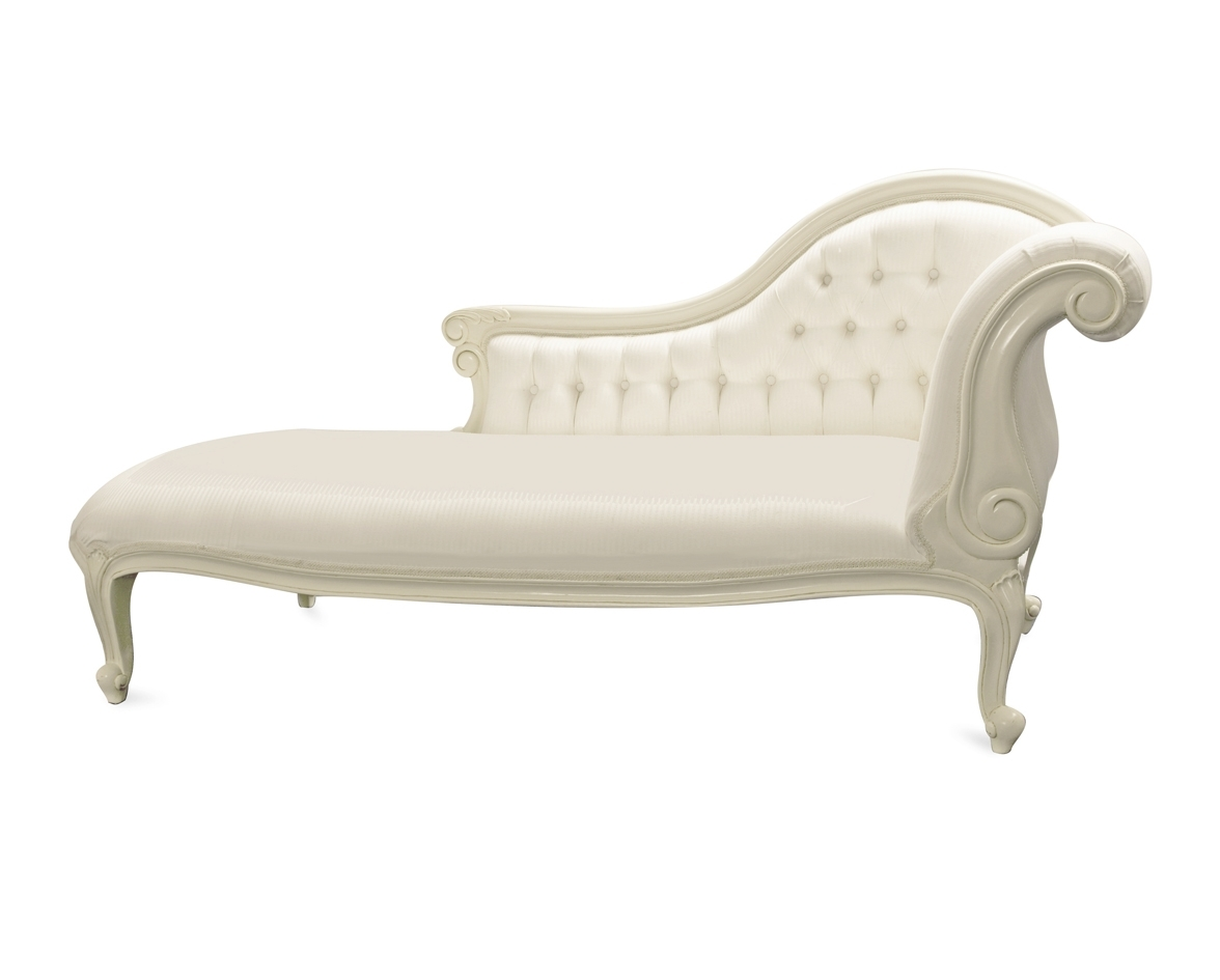 White Leather Chaises Inside Popular Chaise Lounge Chair White Leather • Lounge Chairs Ideas (View 14 of 15)