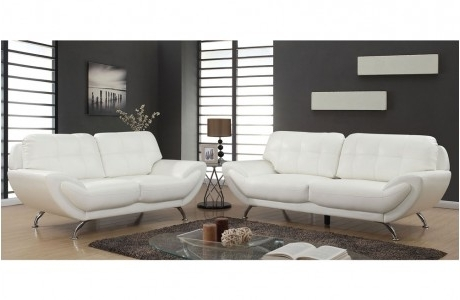 White Leather Sofas Pertaining To 2017 Leather Sofas – Melrose Discount Furniture Store (View 10 of 10)