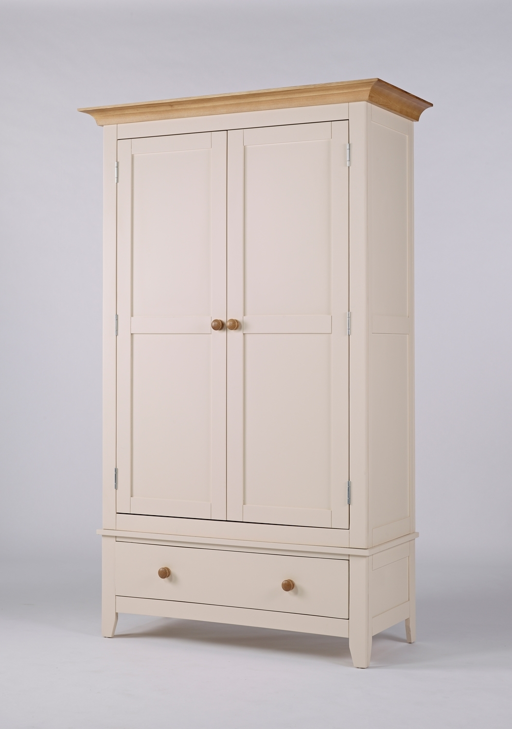 White Painted Wardrobes Inside Fashionable Camden Painted Pine & Ash Wardrobe With Drawer (View 13 of 15)