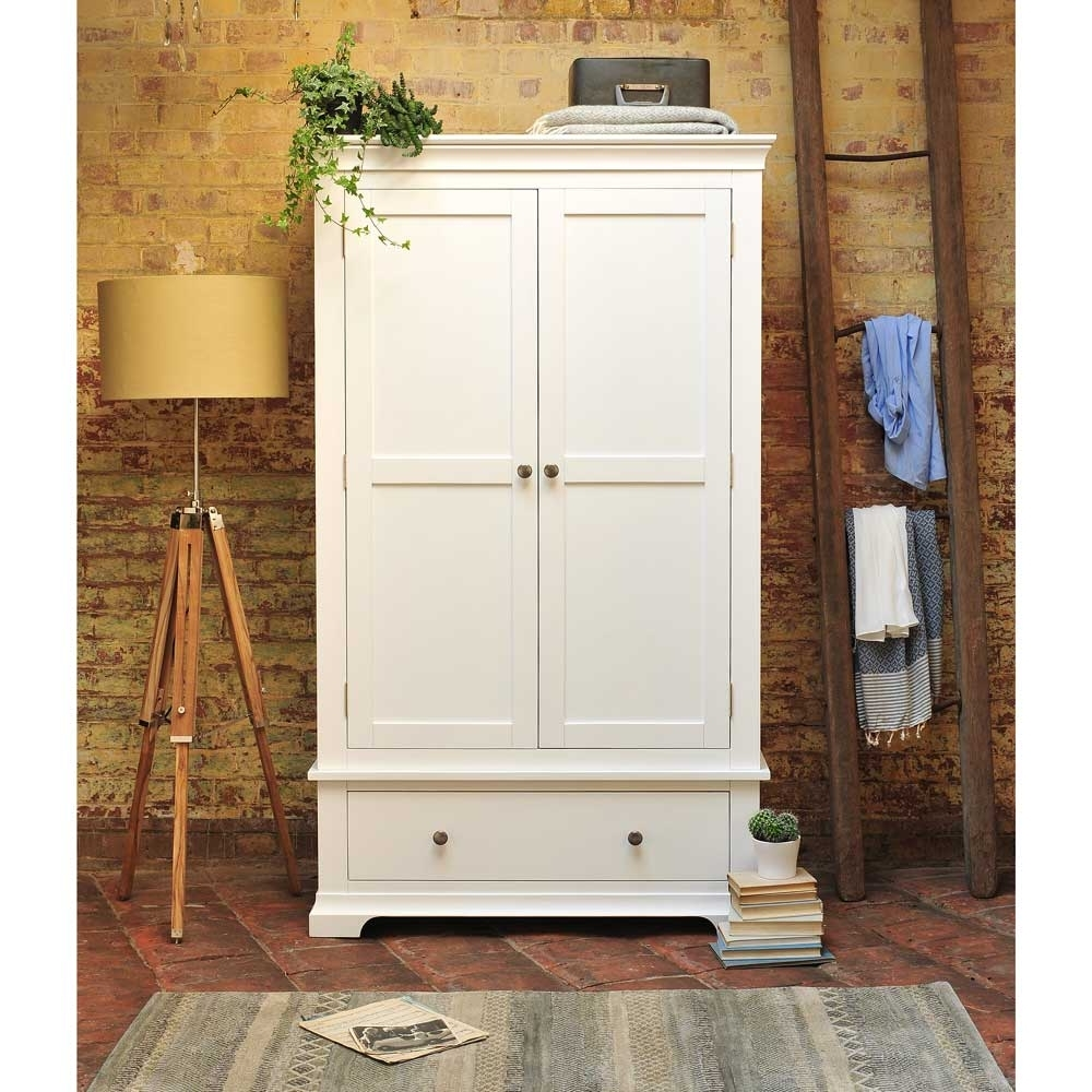White Pine Wardrobes In Famous Wardrobe With Drawers White, Ikea Wardrobe Venice White Double (View 14 of 15)