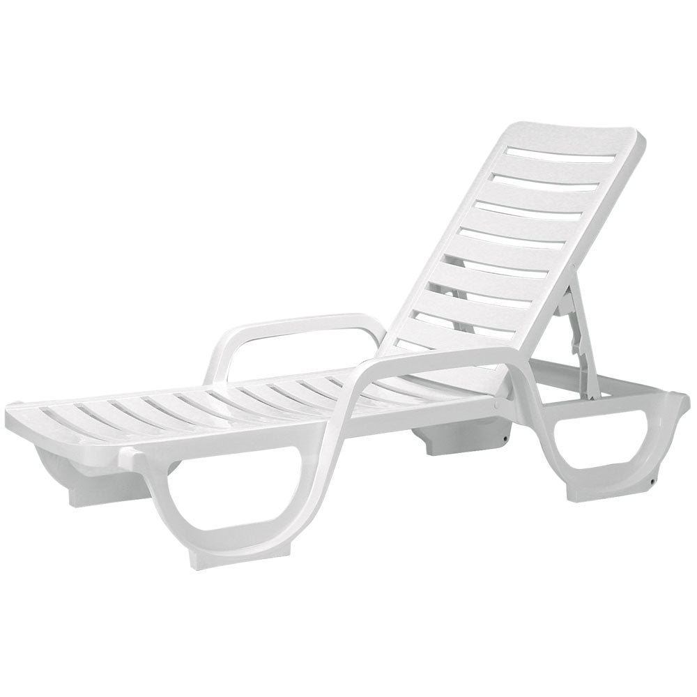 White Plastic Resin Lounge Chairs • Lounge Chairs Ideas Intended For Well Known White Outdoor Chaise Lounge Chairs (View 15 of 15)