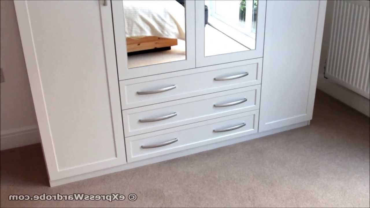 White Wardrobes With Drawers And Mirror Inside Most Popular Home Brand Oslo 4 Door, 3 Drawer Mirrored Wardrobe From Very – Youtube (View 9 of 15)