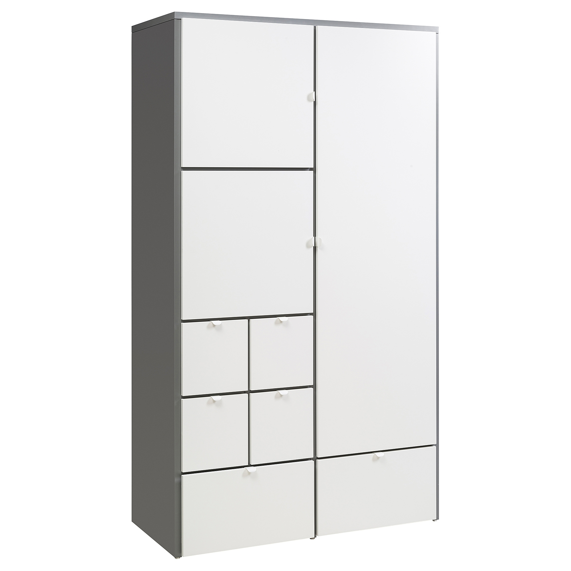 White Wardrobes With Drawers Regarding Most Recently Released Visthus Wardrobe Grey/white 122X59X216 Cm – Ikea (View 15 of 15)