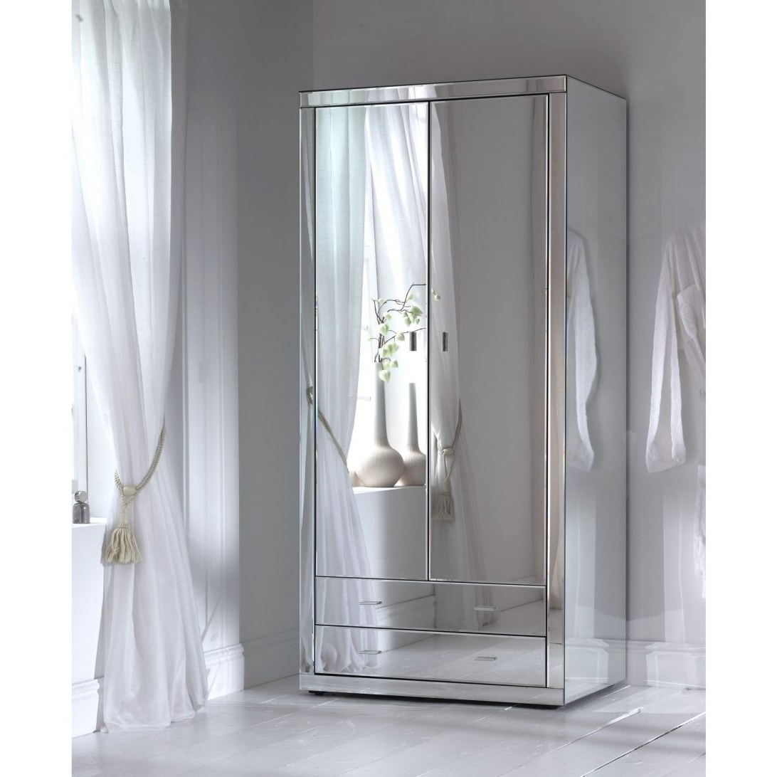 White Wardrobes With Mirror Wardrobe And Drawers Auli Glass For Most Recent White Wardrobes With Drawers And Mirror (View 14 of 15)