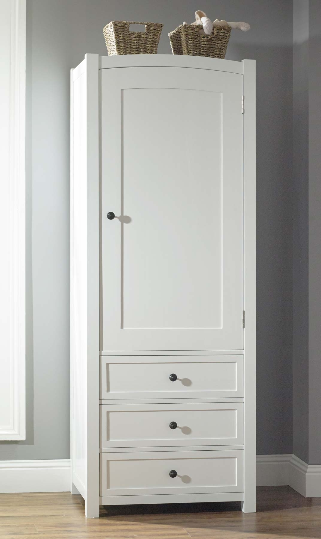 White Wood Wardrobe With Drawers • Drawer Ideas With Regard To Current White Wood Wardrobes (View 11 of 15)