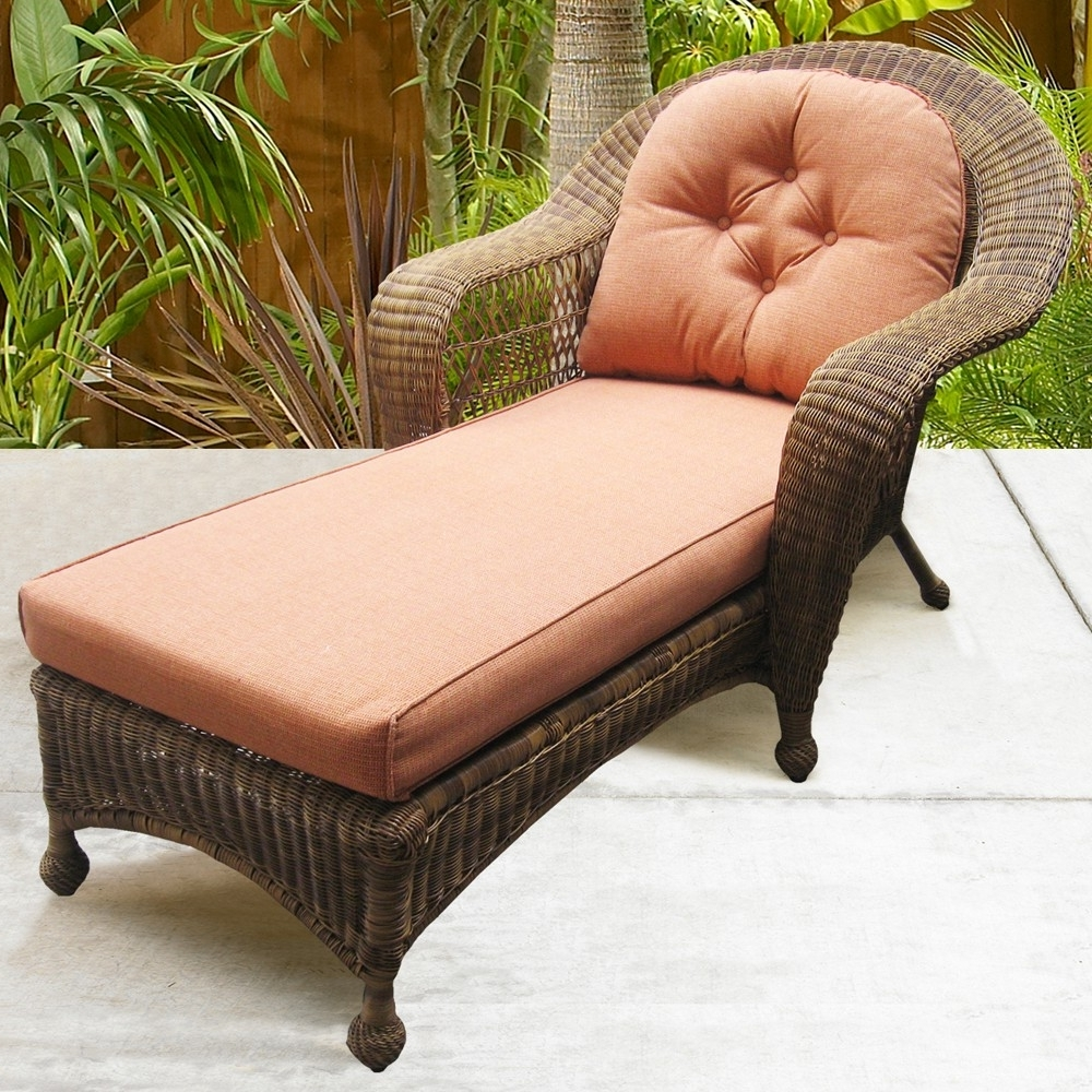 Wicker Chaise Lounge Chair Indoor • Lounge Chairs Ideas Throughout Well Known Wicker Chaises (View 10 of 15)