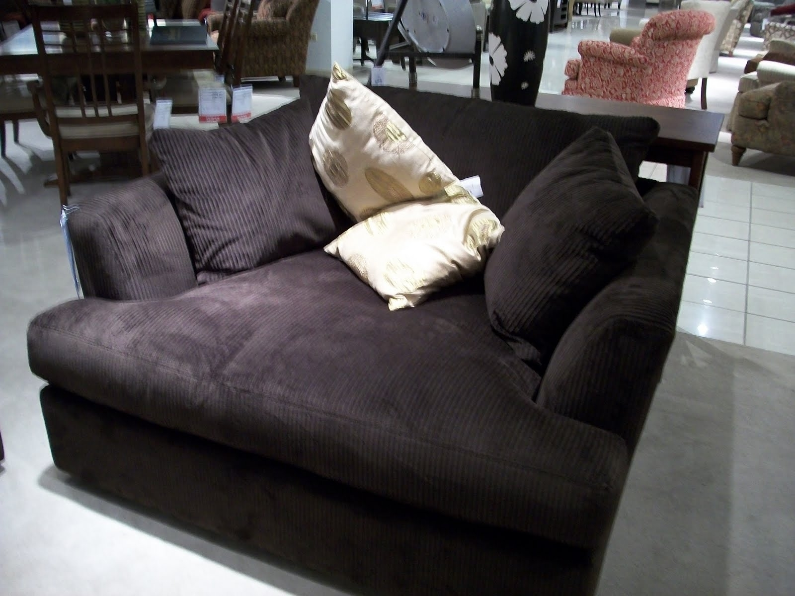 Wide Chaise Lounges With Regard To 2017 Charcoal Velvet Wide Chaise Chair With Modern Armrest Of (View 5 of 15)