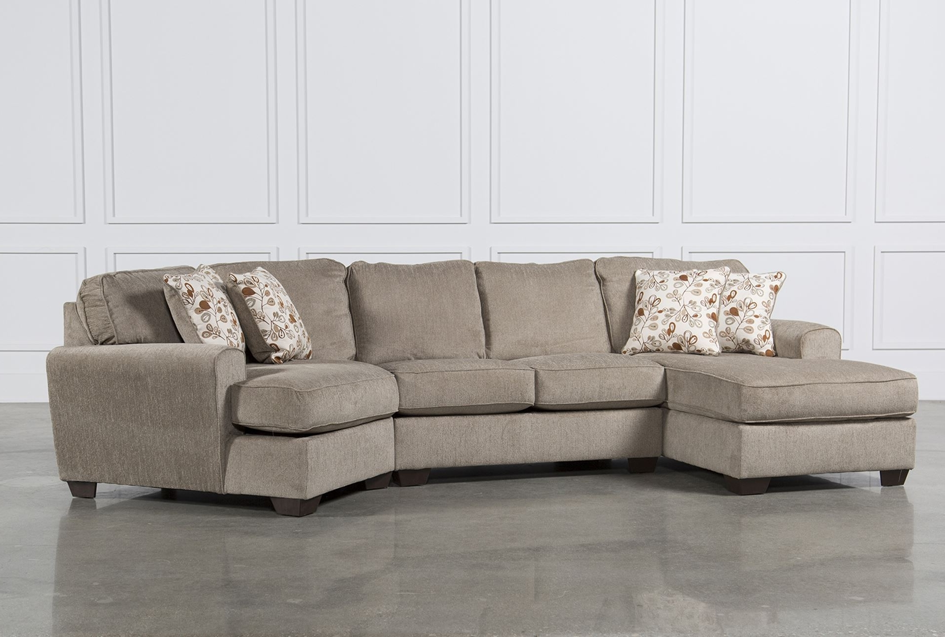 Widely Used 3 Piece Sectional Sofas With Chaise Within Patola Park 4 Piece Sectional W Raf Cuddler Living Spaces In Sofa (View 15 of 15)