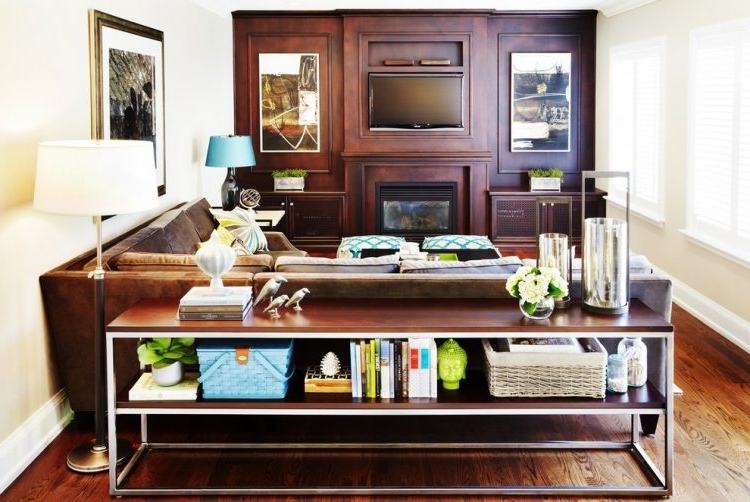 Widely Used 47 Console Table Decor Ideas – Shelterness For Sofas With Back Consoles (View 9 of 10)