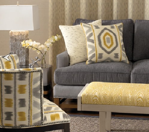 Widely Used Amazing Of Gray And Yellow Accent Chair I Is For Ikat Ibb At Home With Yellow Sofa Chairs (View 7 of 10)