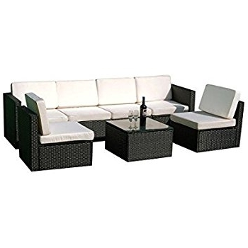 Widely Used Amazon : Mcombo 6085 S1007 7 Piece Wicker Patio Sectional Pertaining To Outdoor Sofa Chairs (View 8 of 10)