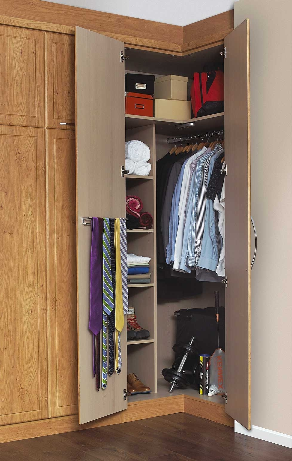 Widely Used Angles & Ends – Spacemaker Bedrooms Pertaining To Oak Corner Wardrobes (View 15 of 15)
