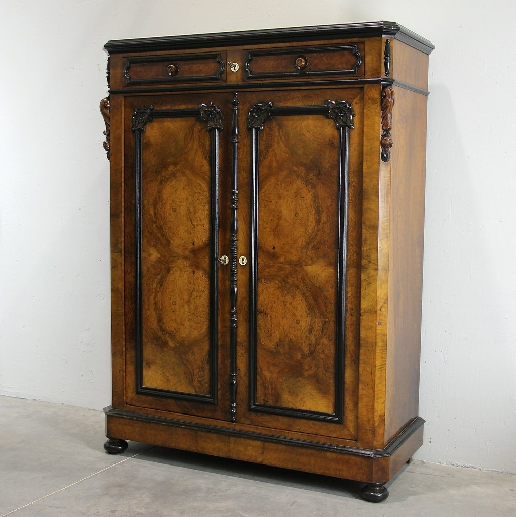 Widely Used Antique Wardrobes For Antique Walnut Wardrobe, 1850 For Sale At Pamono (View 14 of 15)