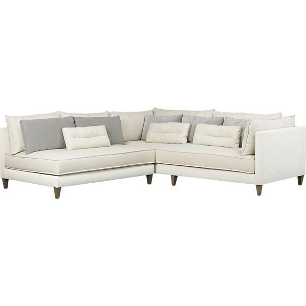 Widely Used Armless Sectional Sofas Pertaining To 2 Piece Armless Sectional Sofa (View 10 of 10)