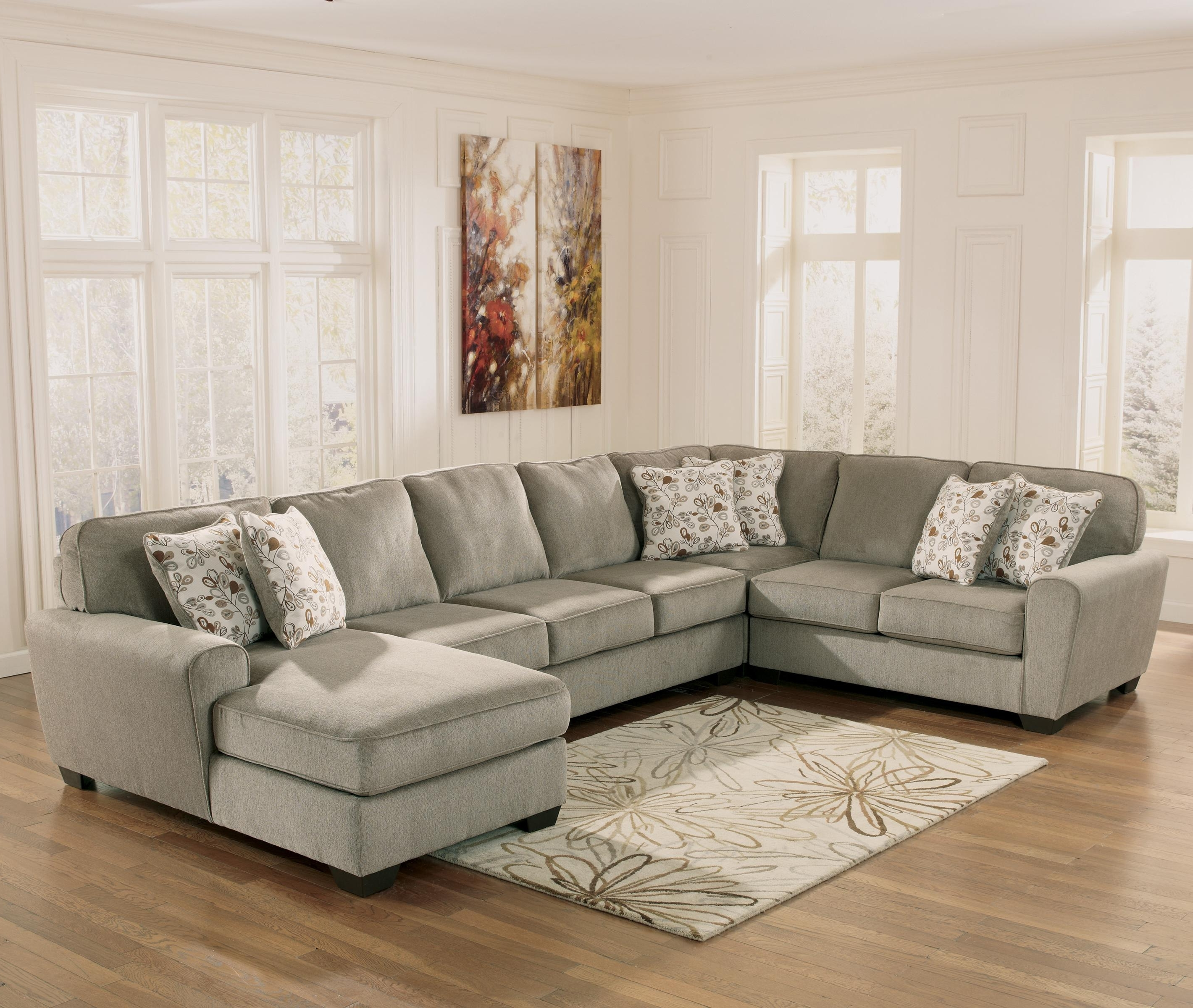 Widely Used Ashley Furniture Patola Park – Patina 4 Piece Sectional With Right With Regard To Ashley Furniture Chaise Sofas (View 15 of 15)