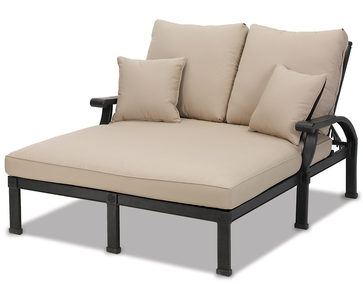 Widely Used Double Chaise Lounges For Outdoor With Regard To Lounge Chair : Reclining Chaise Lounge Outdoor Patio Lounger (View 15 of 15)