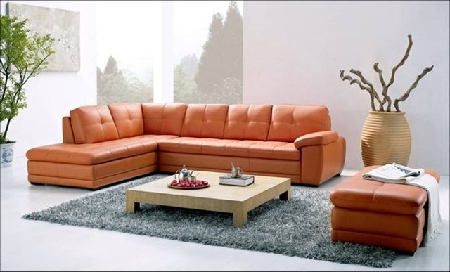Widely Used Free Shipping Modern Sofa, Made With Top Grain Leather L Shaped With Regard To Leather L Shaped Sectional Sofas (View 10 of 10)